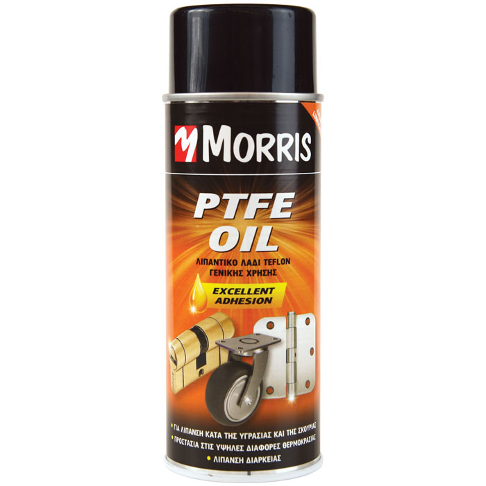 Σπρέι Με Λιπαντικό Λάδι Τεφλόν Γενικής Χρήσης 400ml Morris PTFE OIL SPRAY Σπρέι